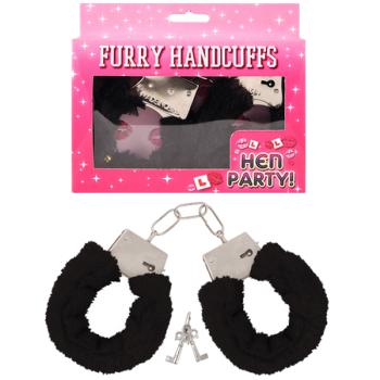 Fur Handcuffs Black