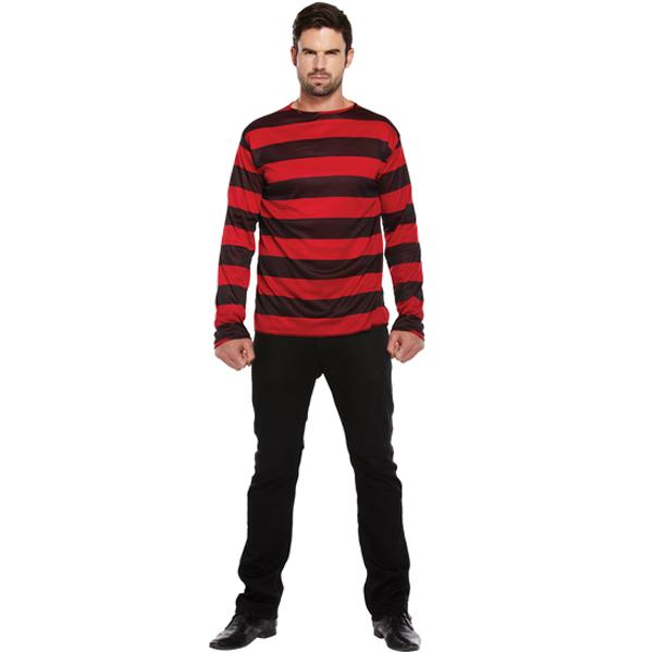 Red & Black Stripped Jumper