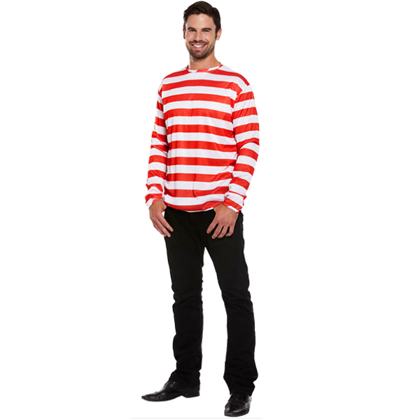 Red & White Striped Jumper