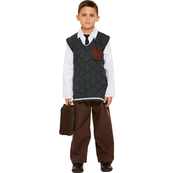 Evacuee Boy With Tag
