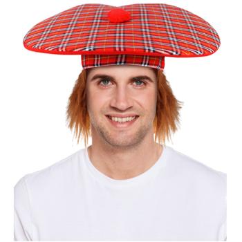 Jumbo Scottish Hat / Tam O' Shanter With Ginger Hair