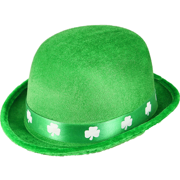 Irish Bowler Hat With Shamrock Band