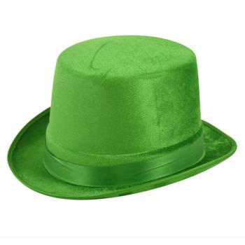 Green Velour Topper Hat