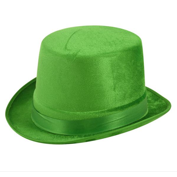Green Velour Top Hat