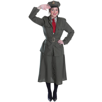 Second World War Lady Army Officer