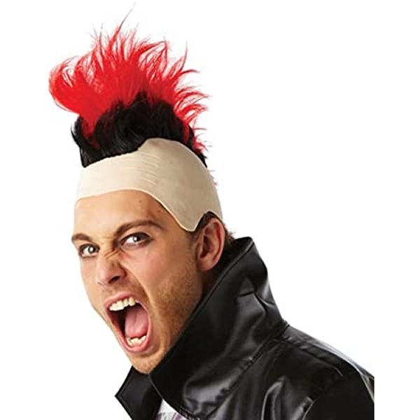 Mohawk Wig Red