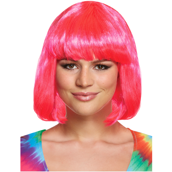 Pink Mid-Length Wig