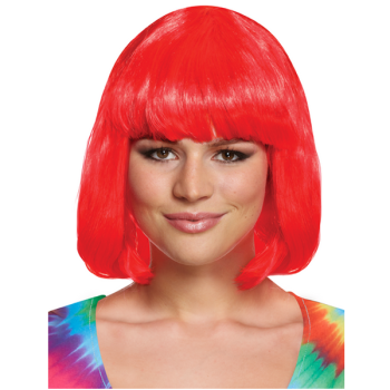Red Mid-Length Wig