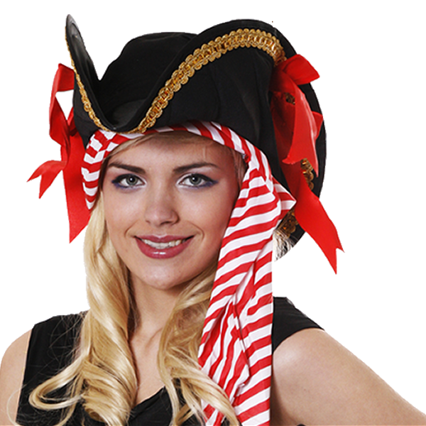Deluxe Pirate Hat With Bandana