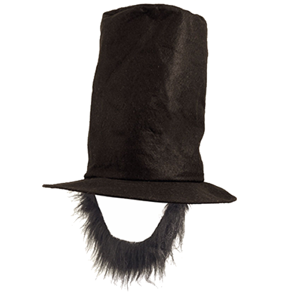Lincoln Hat With Attached Beard