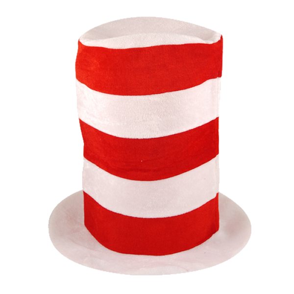 Tall Red And White Top Hat