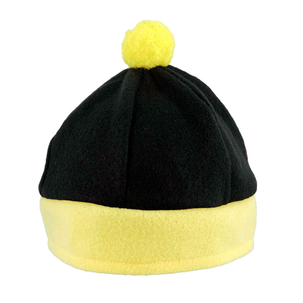 Childrens Black And Yellow Bobble Hat