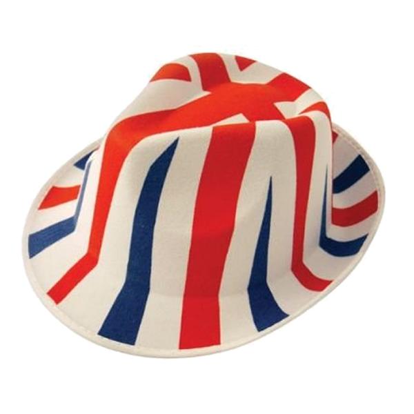 Union Jack Trilby Hat
