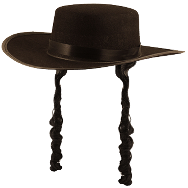 Orthodox Jewish Hat With Curls