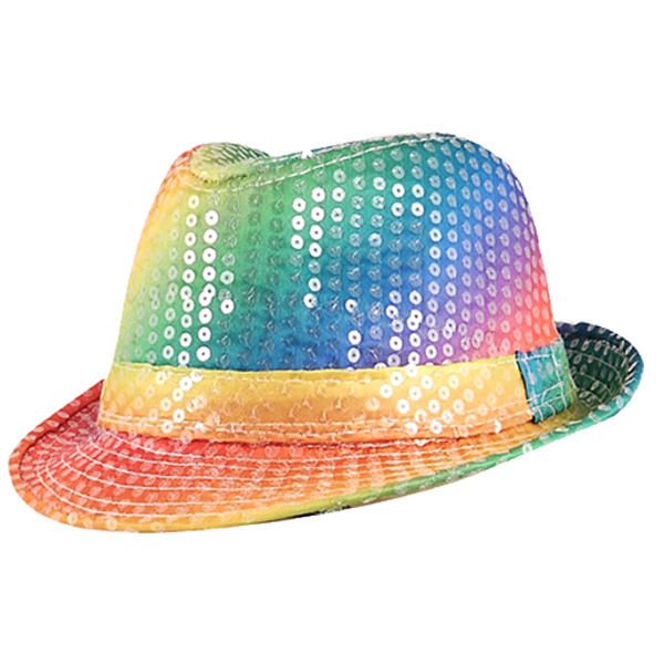 Rainbow Gangster With Sequins