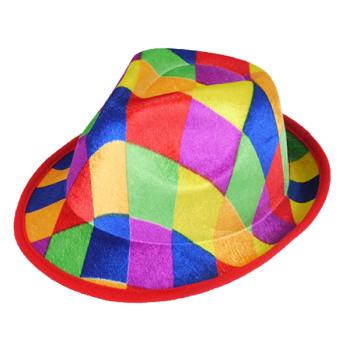 Harlequin Gangster Hat