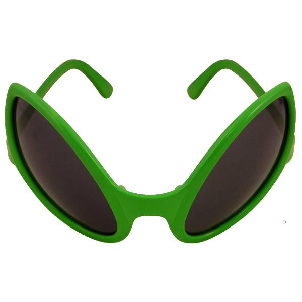 Green Alien Glasses With Dark Lenses