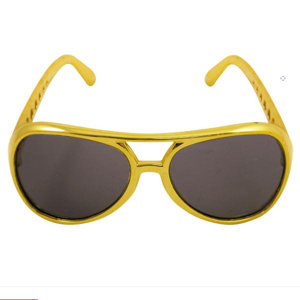 Gold Frame Glasses With Dark Lenses
