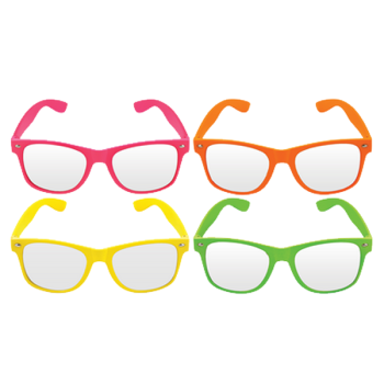 Neon Frame With Clear Lens
