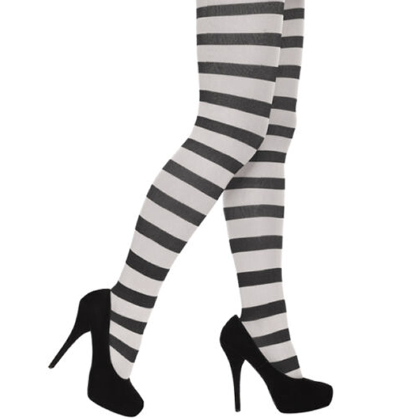 Stripey Tights Black & White