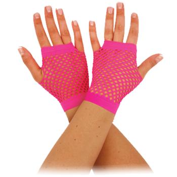 Fishnet Gloves Pink