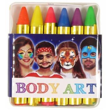Neon Face & Body Crayons