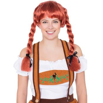 Fraulein Pigtails Wig Auburn