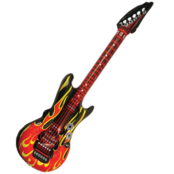 Guitar With Flame Design