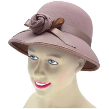Gatsby Beige Hat With Flower