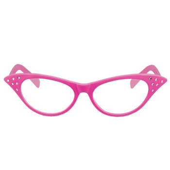 Pink Clear Lens Glasses