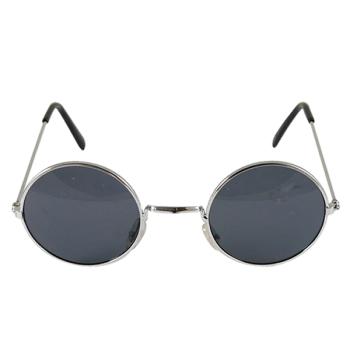Round Black Lens Silver Frame Glasses