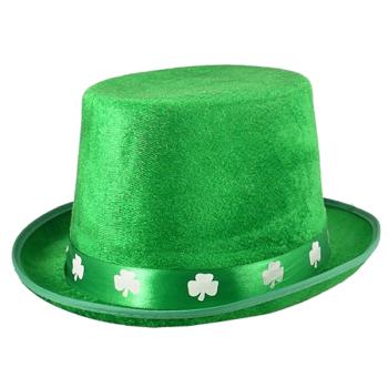 Irish Top Hat With Shamrock Band
