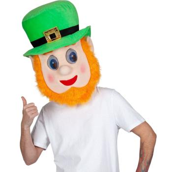 Jumbo Leprechaun Padded Mascot Mask