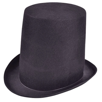 Abraham Tall Top Hat Black