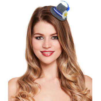 Mini Clip On Hat With Feather And Flower