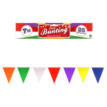 Rainbow Nylon Bunting