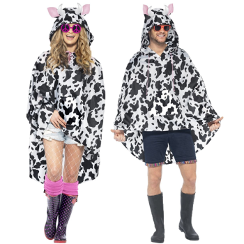 Cow Unisex Adult Party Poncho
