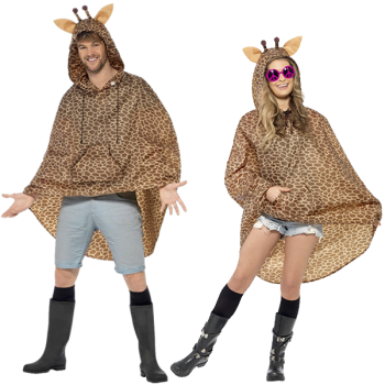 Giraffe Unisex Adult Party Poncho