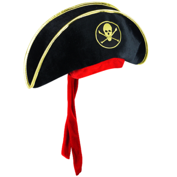 Pirate Hat With Attached Bandanna