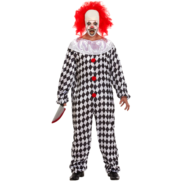 Scary Clown With Wig
