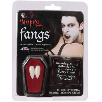 Vampire Fangs With Dental Adhesive