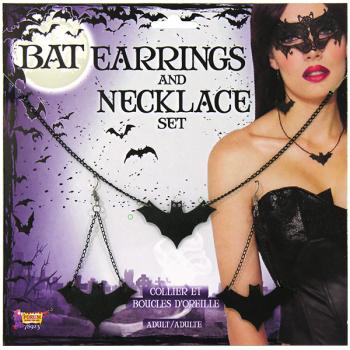 Bat Earrings & Necklace Set