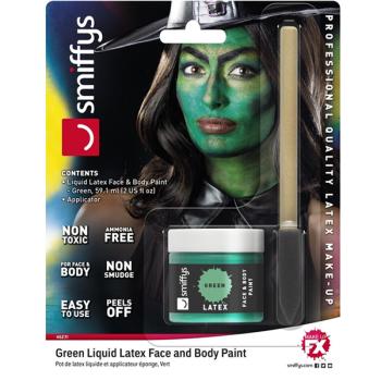 Green Liquid Latex Face & Bady Paint Kit