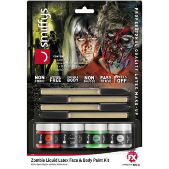 Zombie Liquid Latex Face & Bady Paint Kit