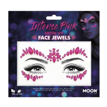 Intense Pink Neon UV Face Jewels