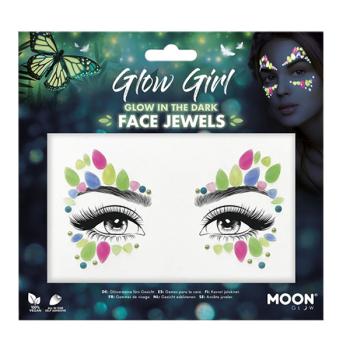 Glow Girl Glow In The Dark Face Jewels