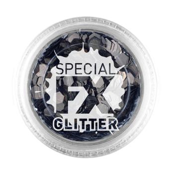 Black Confetti Glitter