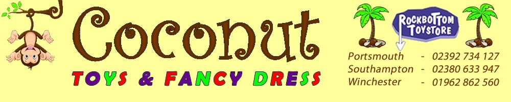 Coconut Toys and Fancy Dress, site logo.