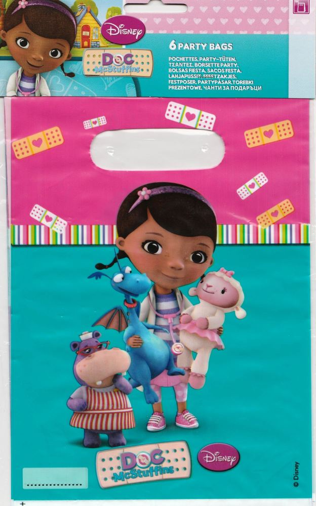 - Doc McStuffins - Party Bags - Set Of 6 - Disney - NEW