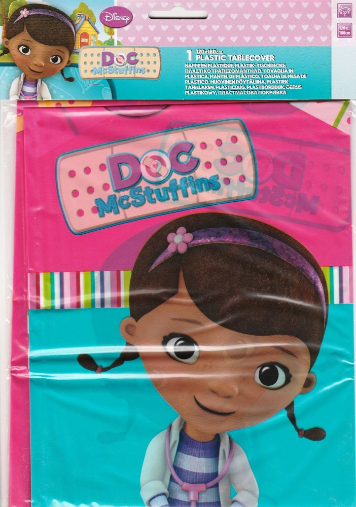- Doc McStuffins - Plastic Tablecover - Disney - NEW